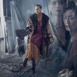 Abrigo con detalle de pelo de la colección otoño 2019 de Zara