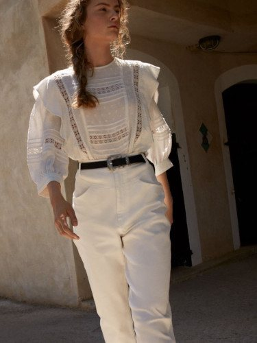 Total look blanco de la colección otoño 2019 de H&M
