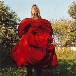 Vestido rojo de la colección otoño/invierno 2019 de Alexander McQueen