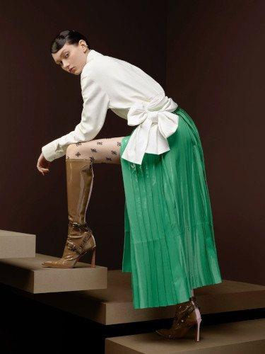 Falda plisada de la colección otoño/invierno 2019/2020 de Fendi