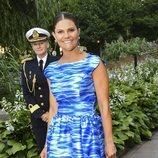 La Princesa Victoria de Suecia con un vestido lleno de color y excesos
