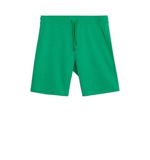 Patalón corto de chándal en color verde de la colección Billie Eilish x Bershka