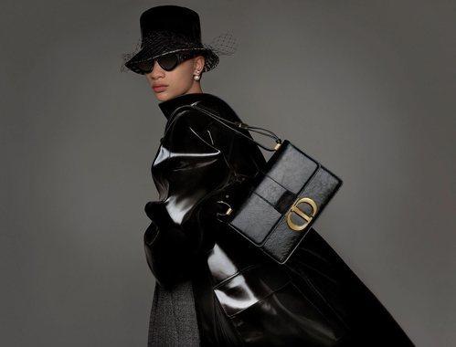 Abrigo brillante de la colección prêt-à-porter otoño/invierno 2019 de Dior