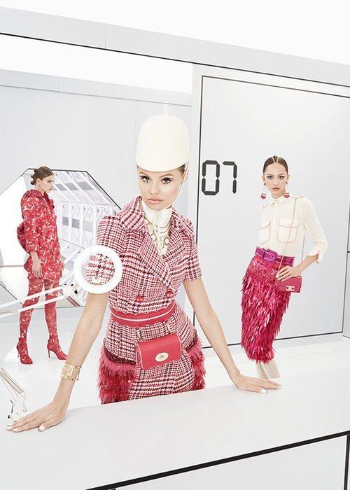Vestido de tweed de la colección otoño/invierno 2019 de Elisabetti Franchi