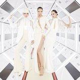 Vestido blanco de la colección otoño/invierno 2019 de Elisabetti Franchi