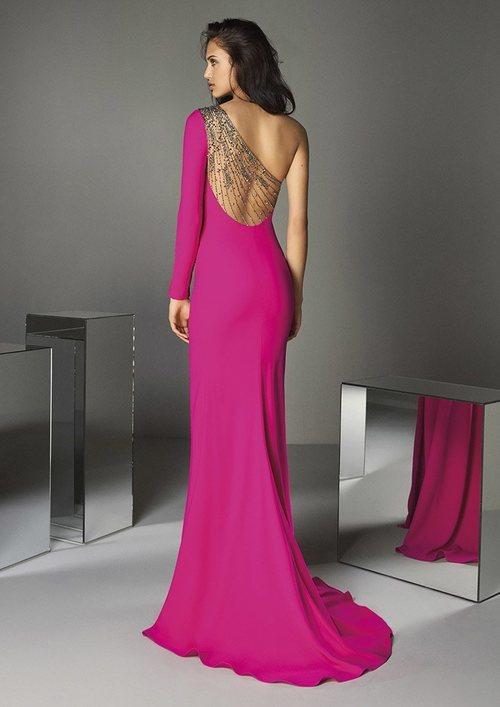 Vestido asimétrico 'A Touch of Sparkle nº58' de #PRONOVIASPINK en colaboración con la AECC