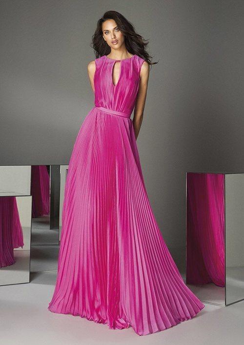Vestido (frontal) 'The Drapes' nº88 de la colección #PronoviasPink en colaboración con la AECC