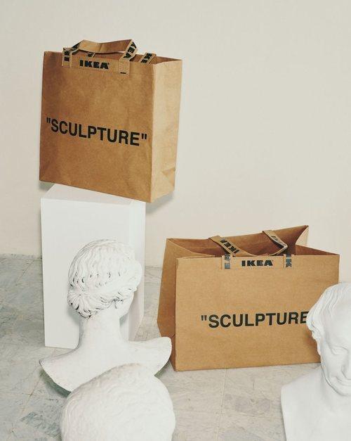 Bolsas 'Sculpture' de la colección 'Markerad' de Ikea y Virgil Abloh