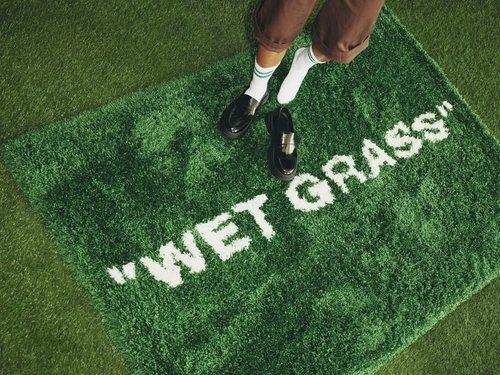 Alfombra 'Wet Grass' de la colección 'Markerade' de Ikea y Virgil Abloh