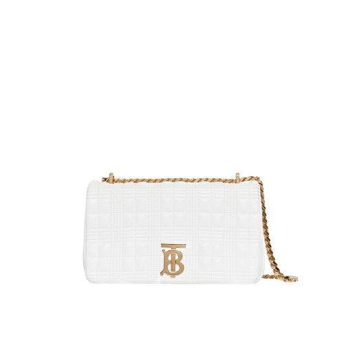 Bolso blanco 'Lola' con correa dorada de la nueva colección Burberry otoño 2019