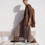 Falda plisada de la colección otoño 2019 de Zara