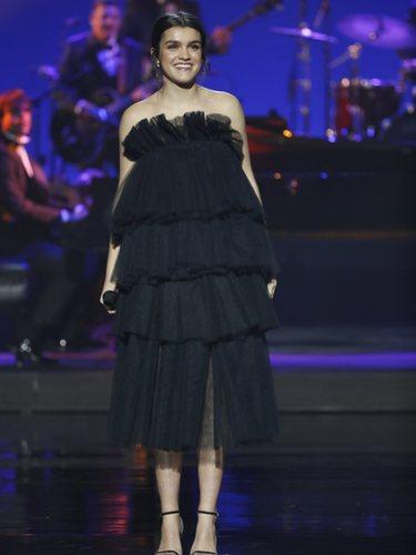 Amaia con un vestido de tull de Celia Valverde en los Premios Goya 2019