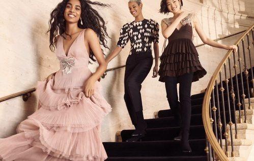 Vestido de gasa rosa de la colección 'Conscious Exclusive' de H&M