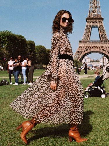 Maxi vestido animal print de la colección 'À-Porter' de Zara TRF