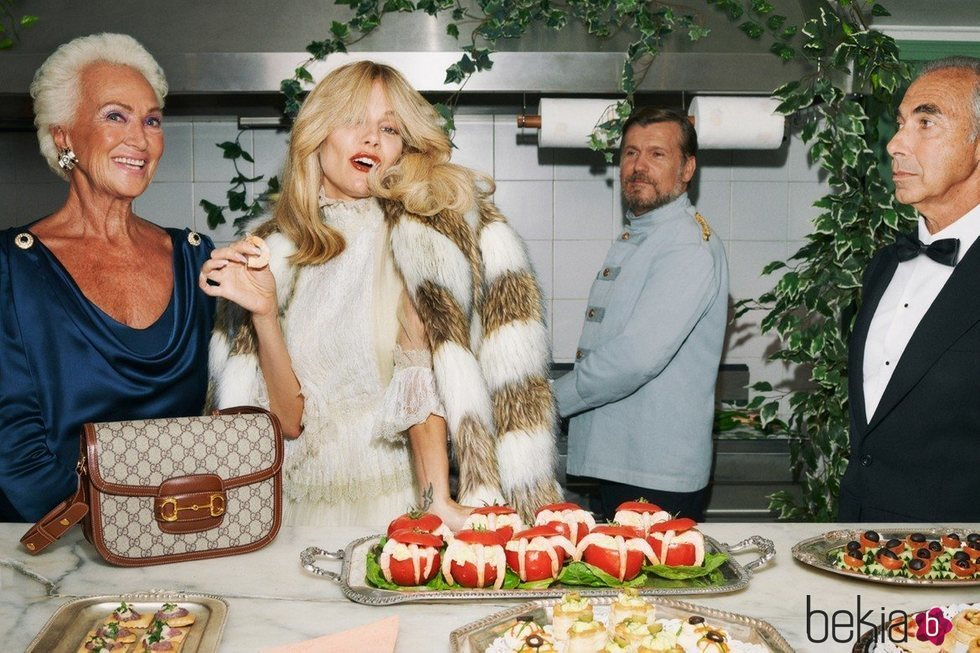Vestido de encaje de la colección Crucero 2020 de Gucci