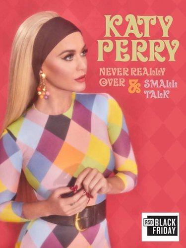 Katy Perry con el Rainbow Diamonds Dress de María Escoté en la portada de su vinilo
