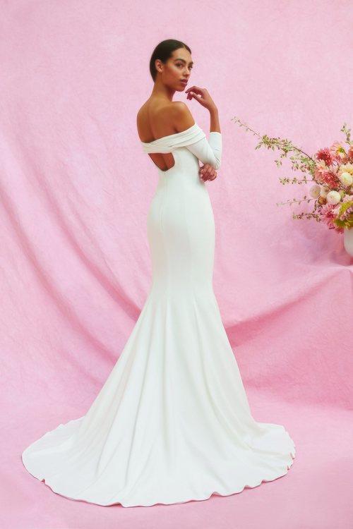 Vestido Mercer de la colección nupcial otoño 2020 de Carolina Herrera