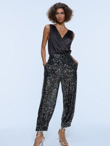 Pantalón de lentejuelas de la colección invierno 2019 de Zara