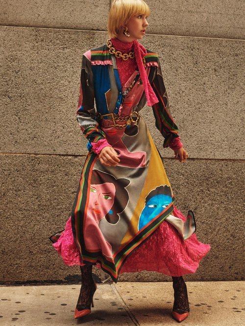 Vestido estampado de la colección otoño/invierno 2019 de Zara