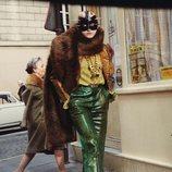 Pantalón verde de la colección prêt á porter otoño/invierno 2019 de Gucci