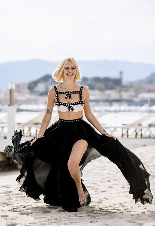 Chiara Ferragni con un top y falda larga de Philosophy di Lorenzo Serafini en el Festival de Cannes 2019