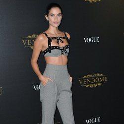 Sara Sampaio con un total look de de Philosophy di Lorenzo Serafini en un evento de Vogue en 2017
