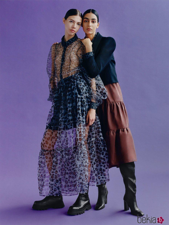 Maxi vestido transparente de la colección otoño/invierno 2019 de Zara TRF