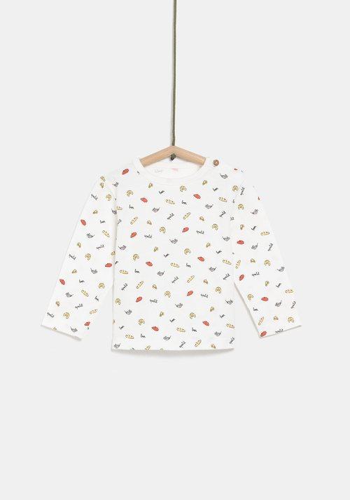 Jersey blanco con dibujos para niño de la colección de Rocío Osorno y TEX de otoño/invierno 2019