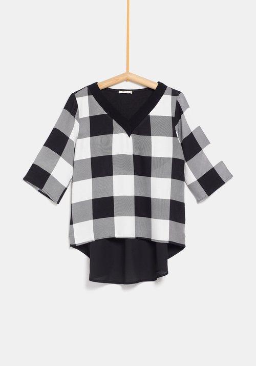 Jersey con cuadros y blusa de la colección de Rocío Osorno y TEX de otoño/invierno 2019