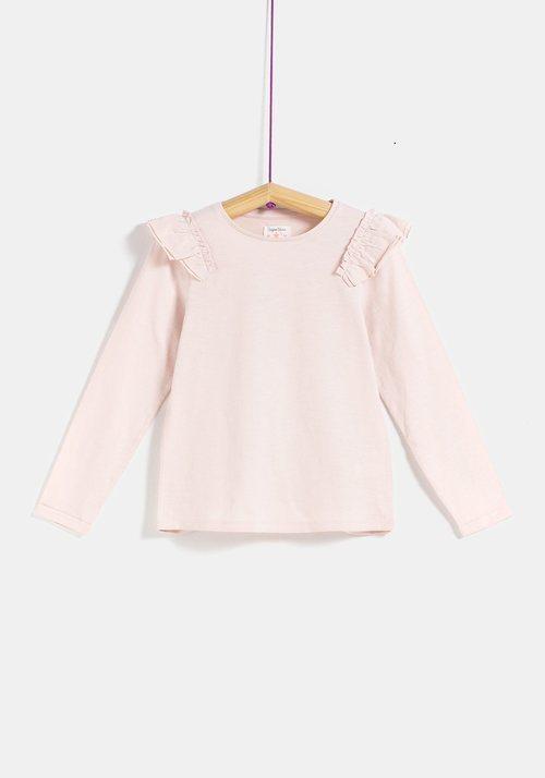 Blusa rosa con volantes de la colección 'I-O' de Carrefour y TEX para otoño/invierno 2019