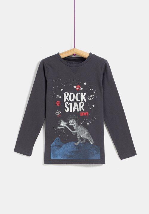 Camiseta niño 'Rockstar'  de la colección 'I-O' de Carrefour y TEX para otoño/invierno 2019