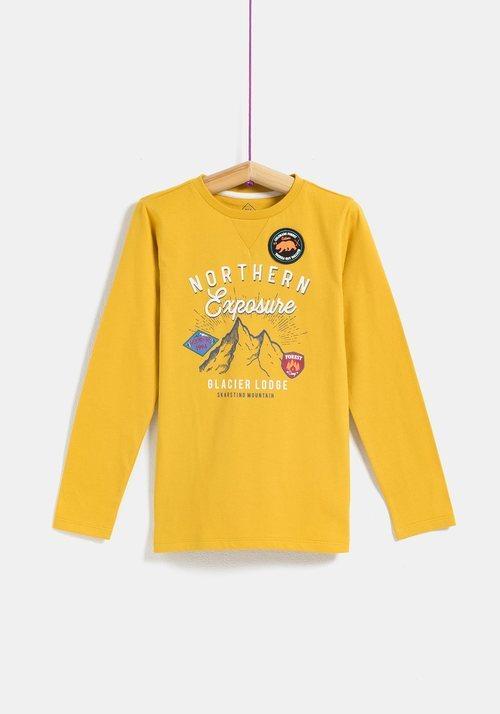 Camiseta amarilla 'Nothern Exposure' de niño de la colección 'I-O' de Carrefour y TEX para otoño/invierno 2019