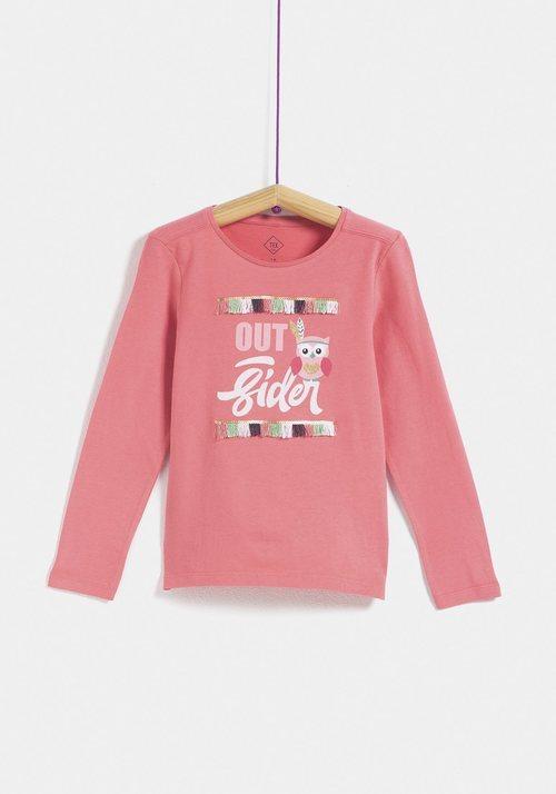 Camiseta rosa para niña de la colección 'I-O' de Carrefour y TEX para otoño/invierno 2019