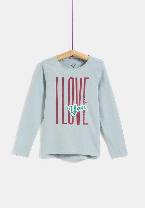 Camiseta niña 'Love' de la colección 'I-O' de Carrefour y TEX para otoño/invierno 2019