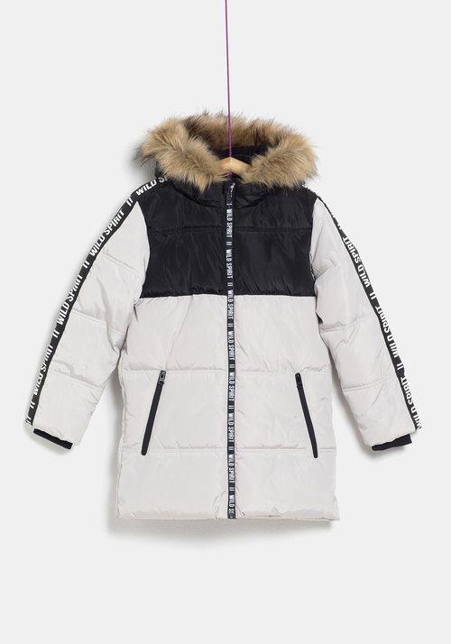 Plumas blanco y negro para niña de la colección 'I-O' de Carrefour y TEX para otoño/invierno 2019