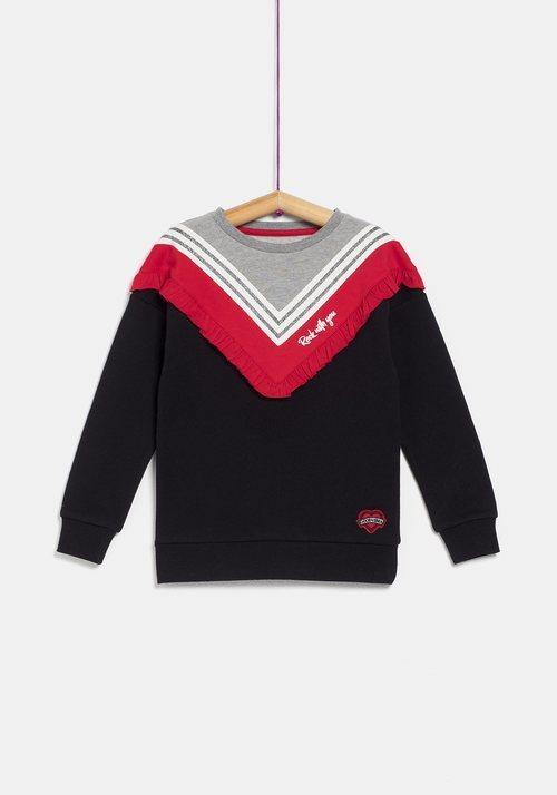 Jersey negro y rojo para niña de la colección 'I-O' de Carrefour y TEX para otoño/invierno 2019