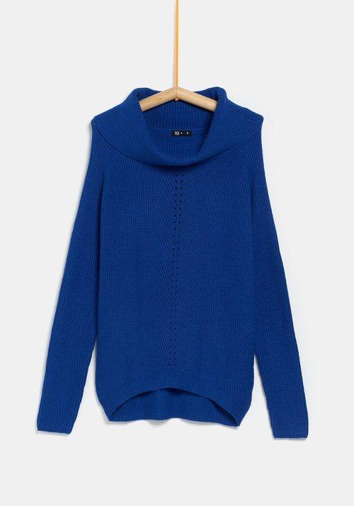 Jersey azul para mujer de la colección 'I-O' de Carrefour y TEX para otoño/invierno 2019