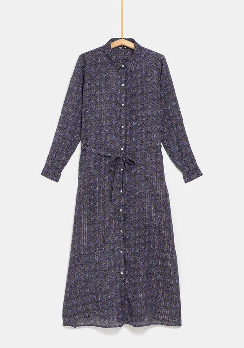 Vestido con lazo gris de la colección 'I-O' de Carrefour y TEX para otoño/invierno 2019