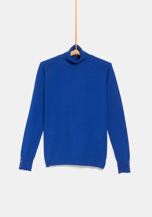 Jersey cuello alto azul de la colección 'I-O' de Carrefour y TEX para otoño/invierno 2019