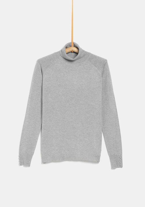 Jersey cuello alto gris de la colección 'I-O' de Carrefour y TEX para otoño/invierno 2019