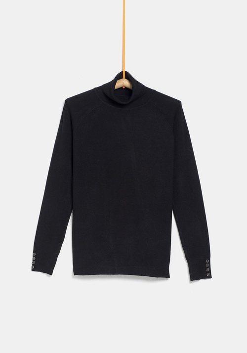 Jersey cuello alto negro de la colección 'I-O' de Carrefour y TEX para otoño/invierno 2019
