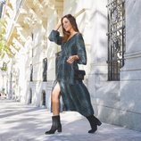 Rocío Osorno con vestido largo de la colección 'I-O' de Carrefour y Tex para otoño/invierno 2019