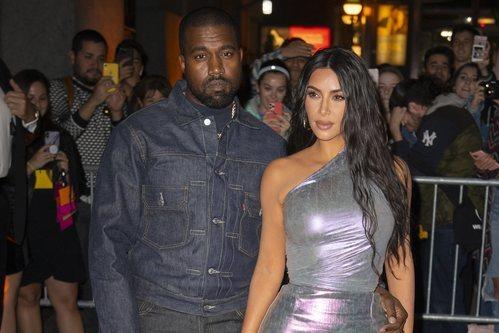 Kim Kardashian y Kanye West en la gala 'Night of Stars' en Nueva York