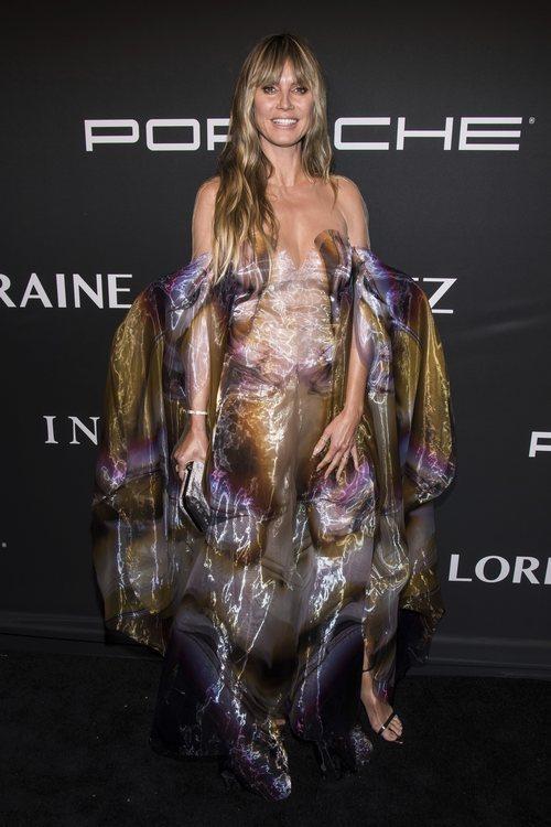 Heidi Klum con vestido de tul en la 'Angel Ball' 2019