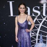 Emilia Clarke con vestido de lentejuelas en la premiere de 'The Last Christmas' en Nueva York