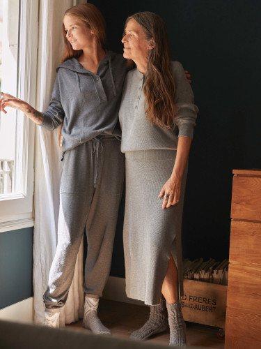 Falda de punto de la colección homewear invierno 2019/2020 de Oysho