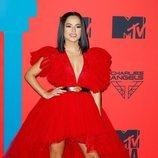 Becky G vestida de Giambattista Valli x H&M en los MTV EMAs 2019