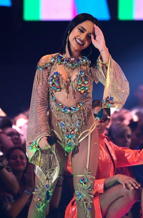 Becky G con un body con incrustaciones de brillantes en los MTV EMAs 2019