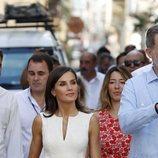 La Reina Letizia con vestido floral de Carolina Herrera durante su Viaje Oficial en La Habana