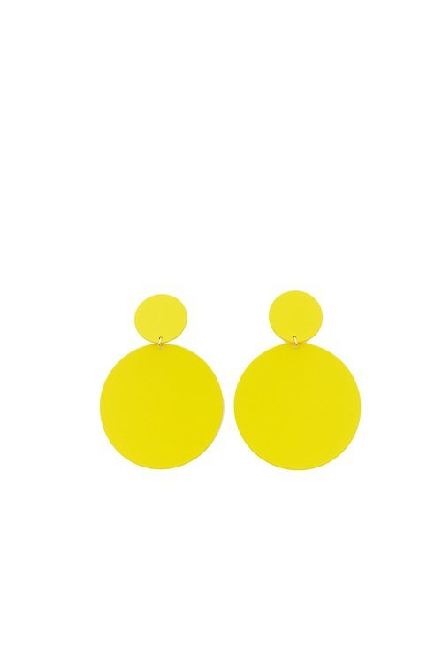 Pendientes amarillos de la colección Sfera otoño/invierno 2019-2020 Especial Navidad